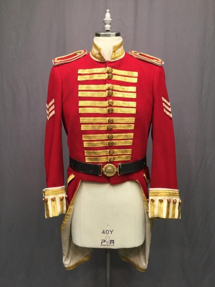 Military Coat Military 19th Century Men C40 Red
